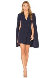 Lavish Alice Split Back Cape Dress Navy
