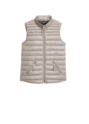 Mango Water Repellent Quilted Gilet Light Grey