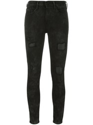 Calvin Klein Jeans Skinny Cropped Trousers Black