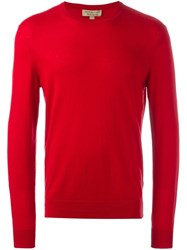 Burberry Crew Neck Jumper Red