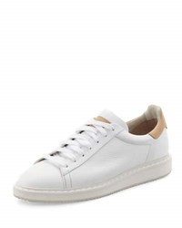 Brunello Cucinelli Men's Apollo Leather Sneaker White