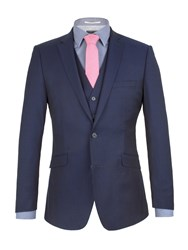 Racing Green Twill Weave Tailored Fit Jacket Blue