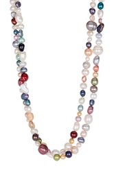 6 8Mm Dyed Multicolor Freshwater Pearl Endless Necklace