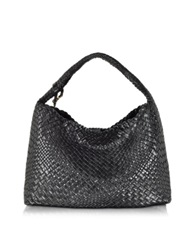 Ghibli Woven Leather Tote Black