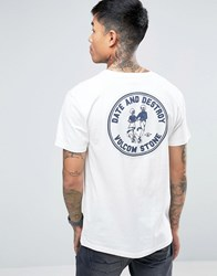 Volcom Dater Bsc T Shirt In White With Backprint White