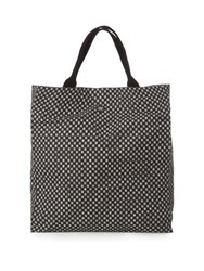 Danward Geometric Print Canvas Beach Tote Black Multi