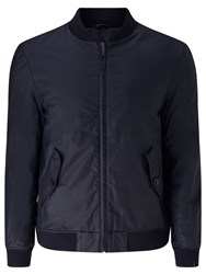 John Lewis And Co. Waxed Cotton Bomber Jacket Navy