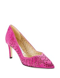 Diane Von Furstenberg Holla Suede Cutout Pumps New Berry