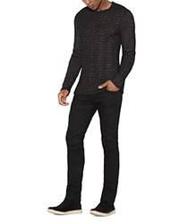 John Varvatos Star Usa Textured Sweater Black