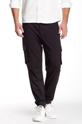 Quinn Cashmere Ross Leather Trim Jogger Black