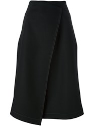 Odeeh Envelope A Line Skirt Black