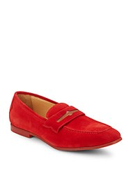 Robert Graham Sandhills Suede Loafer Red