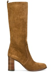 Sartore Knee High Ankle Boots Brown