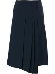 Christophe Lemaire Lemaire Wrapped Pleated Skirt Blue