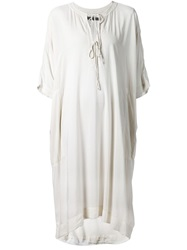 Raquel Allegra Loose Fit Tunic Dress White