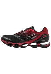 Mizuno Wave Prophecy 5 Cushioned Running Shoes Black Silver Chinese Red