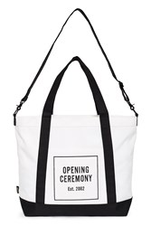 Opening Ceremony Oc Logo Two Tone Weekend Bag White