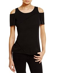 Red Haute Night Out Cold Shoulder Tee Black