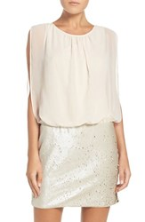 Aidan Mattox Women's By Chiffon And Sequin Blouson Dress