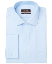 Tasso Elba Non Iron Twill Solid French Cuff Dress Shirt