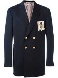 Thom Browne Double Breasted Blazer Blue