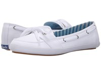 Keds Teacup Boat Seasonal Solid White Women's Lace Up Casual Shoes