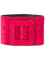 Yves Saint Laurent Vintage Wide Belt Red