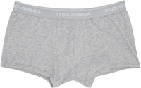Dolce And Gabbana Two Pack Grey Boxer Briefs