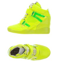 Serafini Sport Footwear High Tops And Trainers Women Yellow