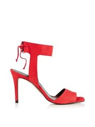 Whistles Delphia Ankle Tie Peep Toe Sandal Red