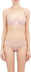 Fleur Of England Caress Lace Balcony Bra Pink Size 32 C Cup