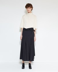 Christophe Lemaire Wrapover Skirt Black