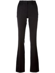 Barbara Bui Pinstriped Flared Trousers Black