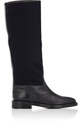 Veronique Branquinho Women's Felt And Leather Knee Boots Black