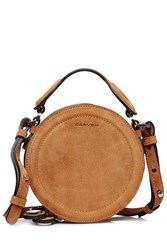 Carven Suede Shoulder Bag Camel