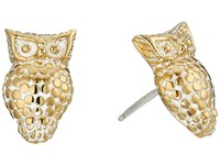 Anna Beck Owl Stud Earrings Sterling Silver 18K Gold Vermeil 2 Earring