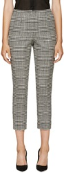 Lanvin Black And White Houndstooth Trousers