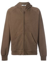 Givenchy Classic Zipped Hoodie Brown