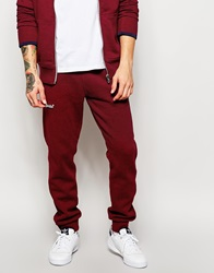 Superdry Tracksuit Bottoms With Tipping Burgundy