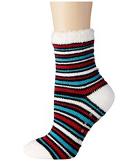 Life Is Good Cozy Lined Crew Socks Stripe Night Black Women's Crew Cut Socks Shoes Multi