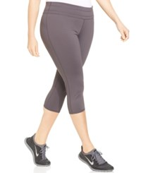Ideology Plus Size Capri Active Leggings Deep Charcoal