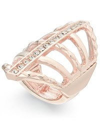 Thalia Sodi Rose Gold Tone Crystal Web Stretch Ring Only At Macy's