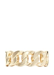 Kenneth Jay Lane Weave Chain Link Metal Hinge Bangle Metallic