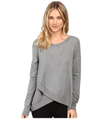Midnight By Carole Hochman Lounge French Terry Long Sleeve Top Heather Women's Pajama Gray