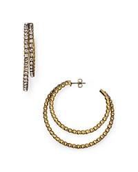 Marc Jacobs Crystal Statement Hoop Earrings Crystal Antique Gold