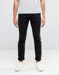 Selected Homme Black Jeans With Stretch In Slim Fit Black