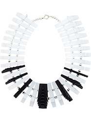 Vojd Studios 'Clear Parallel' Necklace Black
