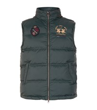 La Martina Logo Embroidered Gilet Male Green