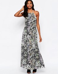 Goldie Elegance Maxi Dress With Low Back In Leopard Print Multi