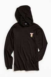 Stussy S Horns Hooded Long Sleeve Tee Black